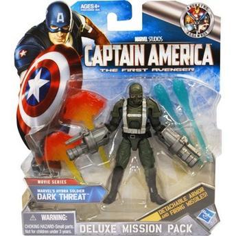 Figura de Ação Luxo Dark Threat Capitão América Hasbro