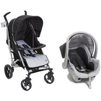 Carrinho de Bebe Dzieco Bebê Conforto Travel System Tatus Preto