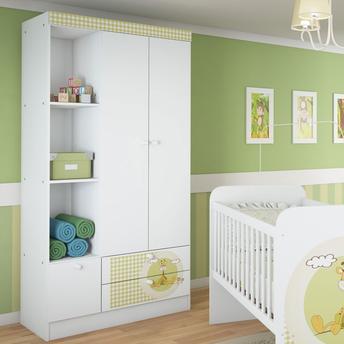 Guarda-roupas Serpil Móveis Kids Com 3 Portas 2 Gavetas - C955