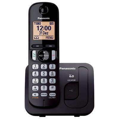 Telefone Sem Fio Panasonic Kxtgc210 Com Id Preto