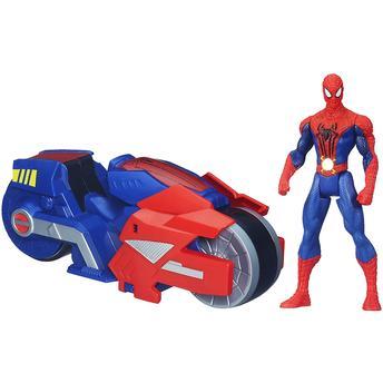 Boneco e Veículo Spiderman Strike Hasbro