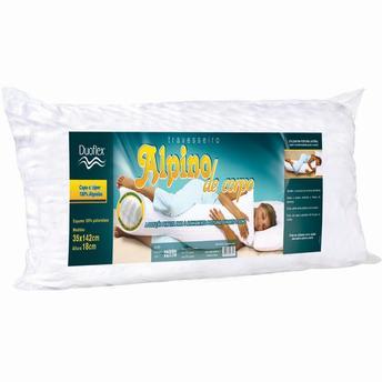 Travesseiro Duoflex Alpino de Corpo 100% Algodão 35x142cm
