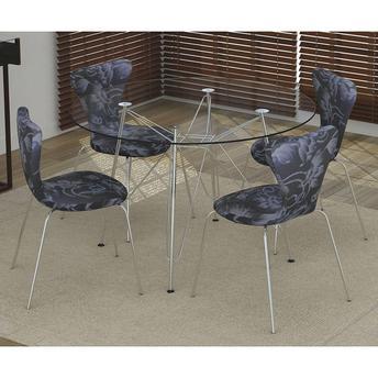 Conjunto de Mesa e Cadeira Magali 4 Cadeiras Criativa