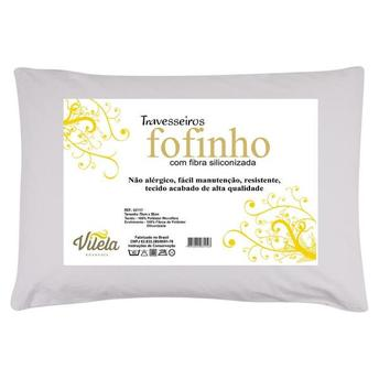 Travesseiro Vilela Fofinho 100% Poliester 100% Fibra Siliconizadade Poliester 70x50cm