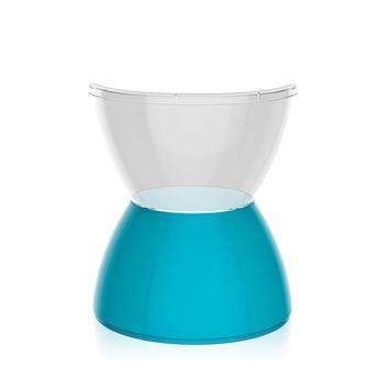Banqueta Hydro Assento Cristal Base Color Azul I'm In Home