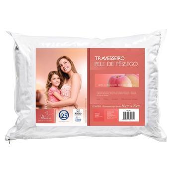 Travesseiro Fibrasca Pele de Pêssego 100% Algodão 50x70cm