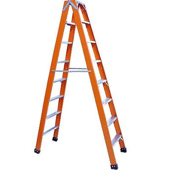 Escada de Fibra de Vidro Americana Dupla 6 Degraus Esc06180 Rotterman