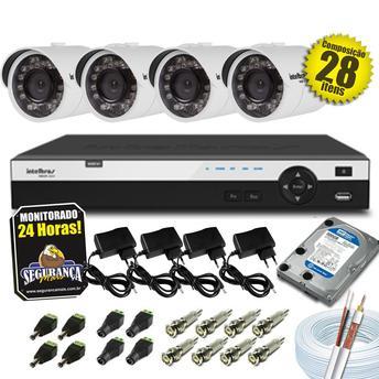 Dvr Intelbras Hdcvi 4 Canais Kit Com Câmera