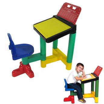 Mesa Infaltil Escolar Com Cadeiras Colrida Braskit