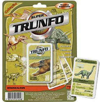 Jogo de Carta Super Trunfo Dinossauros Grow