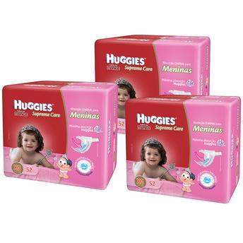 Fraldas Descartáveis Supreme Care Soft Touch Meninas Com 156 Unidades - Tamanho Xg Huggies