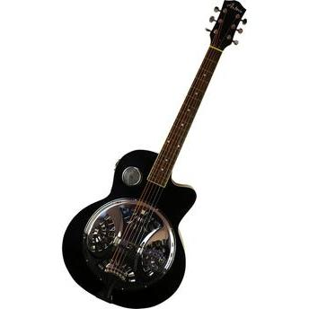 Violão Acústico Dobro Guitar 6 Cordas Aço Preto Art Pro