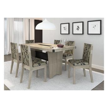Conjunto de Mesa e Cadeira Espanha 6 Cadeiras P&c Artemobili