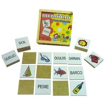 Jogo Educativo da Memória Alfabetização Carlu Brinquedos