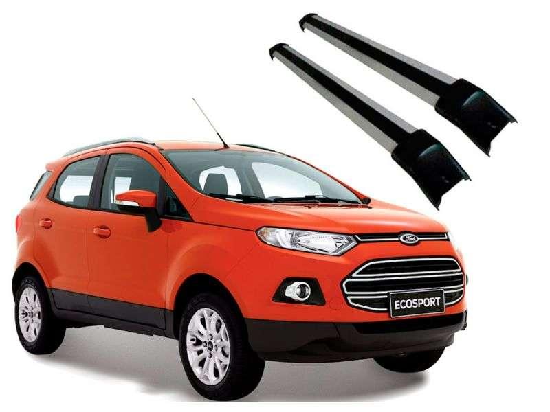 Rack Travessa Larga em Aluminio para Ford Novo Ecosport 2013 em Diante Prata Projecar Fo-519