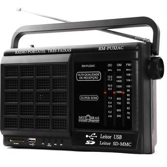 Rádio Portátil Com Usb Motobras 1 W Rms - Rmpu32ac