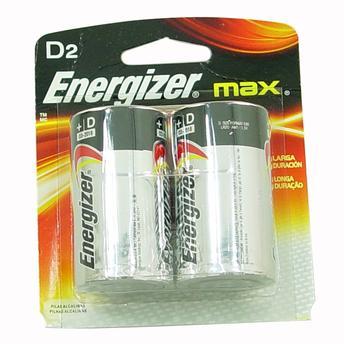 Pilhas Alcalinas Grande D2 Energizer