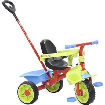 Triciclo C/ Empurrador Smart Plus Vermelho/verde/azul Bandeirante 270