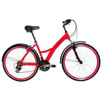 Bicicleta Tito Bike Urban Premium Aro 700 Susp. Dianteira 21 Marchas - Rosa