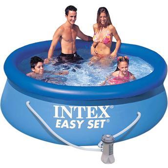 Piscina Circular Intex Easy Set 110 2.419l - Com Bomba Filtro