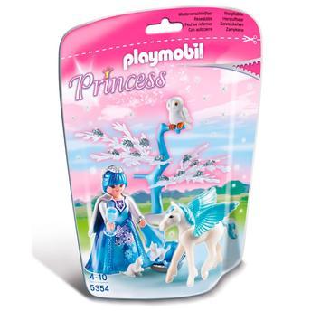Boneco Playmobil Princesas Fada do Inverno Com Pegasus Sunny Brinquedos