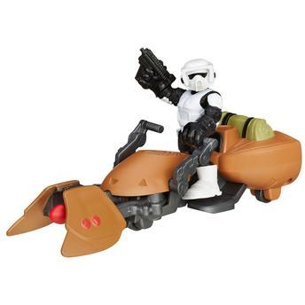 Star Wars Playskool Scout Trooper e Moto Speeder Hasbro