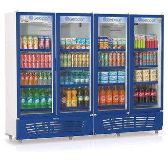 Geladeira/refrigerador 1979 Litros 4 Portas Azul - Gelopar - 220v - Grvc1950az