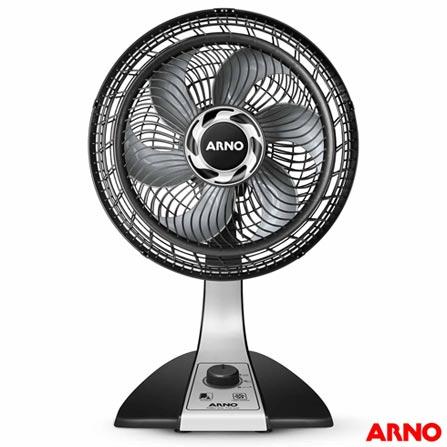 Ventilador de Mesa 6 Pás Arno Silence Force Preto 30cm - 110v - Vf30