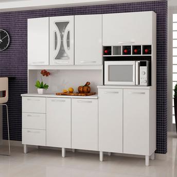 Cozinha Completa Valdemóveis Criative 8 Portas 3 Gavetas