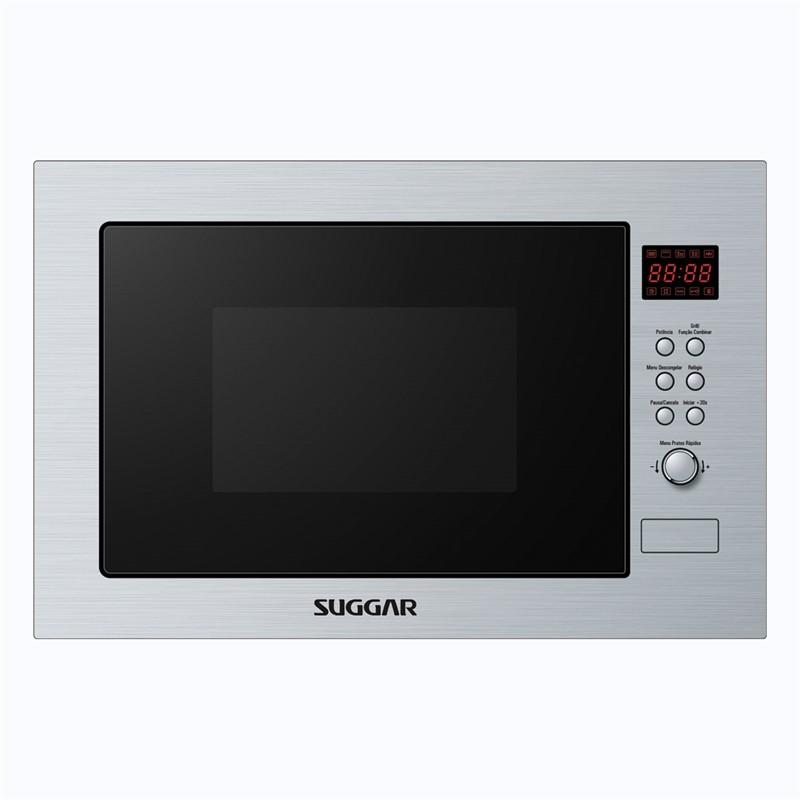 Micro-ondas 25 Litros de Embutir Com Grill - Inox/prata - Suggar - Mo252 - 110v