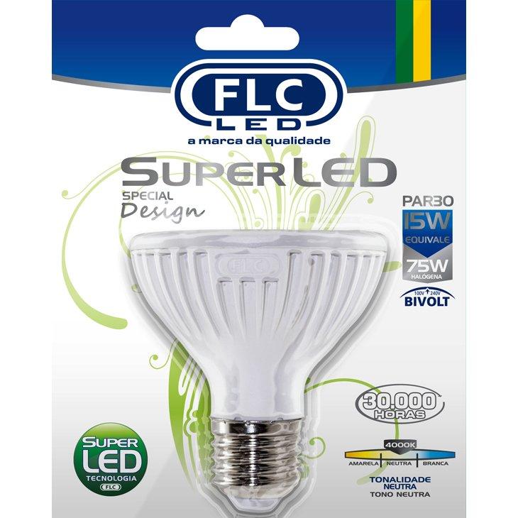 Lâmpada Flc Super Led Par30 15w 4000k Bivolt - 04043016