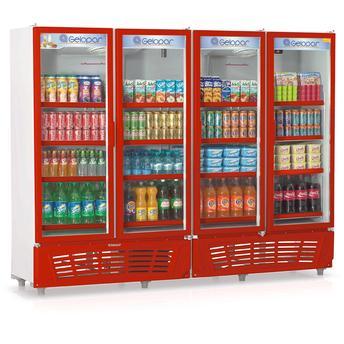 Geladeira/refrigerador 1979 Litros 4 Portas Vermelho - Gelopar - 220v - Grvc1950az