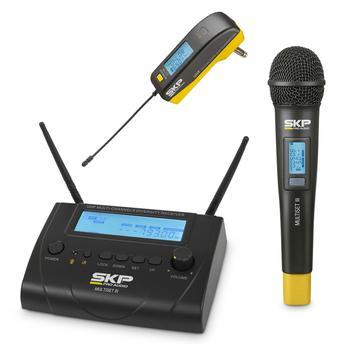 Kit Microfone S/ Fio e Transmissor Uhf Skp