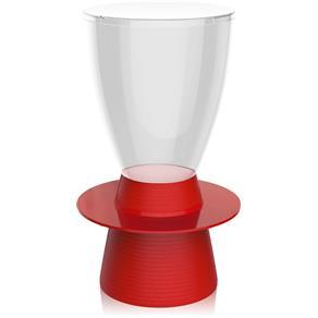 Banqueta Tinn Assento Cristal Base Color Vermelha I'm In Home