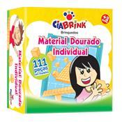 Jogo Educativo Material Dourado Individual 111 Peças Ciabrink