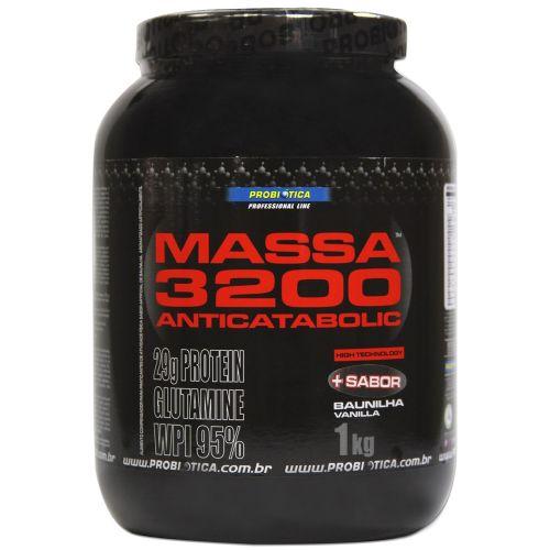 Massa 3200 Anticatabolic 1kg Baunilha Probiotica