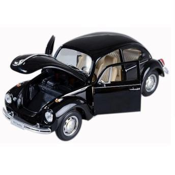 Carrinho Volkswagen Beetle (hardtop) 1:24 Preto Dmc2411 Welly