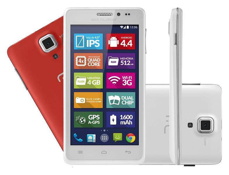 Celular Smartphone Multilaser P3311 4gb Branco - 1 Chip