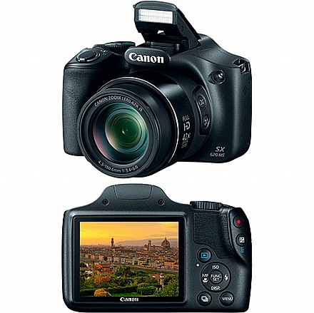 Câmera Digital Canon Powershot Preto 16.1mp - Sx520hs