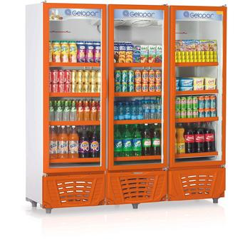 Geladeira/refrigerador 1468 Litros 3 Portas Laranja - Gelopar - 220v - Grvc1450
