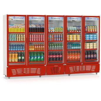 Geladeira/refrigerador 2492 Litros 5 Portas Vermelho - Gelopar - 110v - Grvc2500