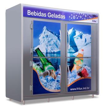 Geladeira/refrigerador 1800 Litros 4 Portas Adesivado - Frilux - 220v - Rf-055