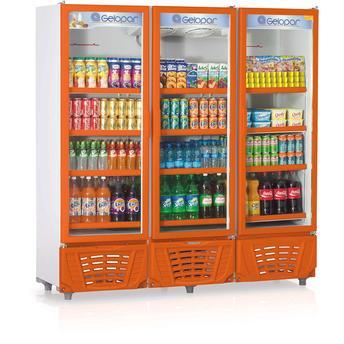 Geladeira/refrigerador 1468 Litros 3 Portas Laranja - Gelopar - 110v - Grvc1450