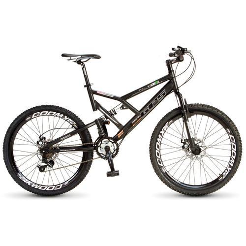 Bicicleta Colli Bike Gps Aro 26 Full Suspensão 21 Marchas - Preto