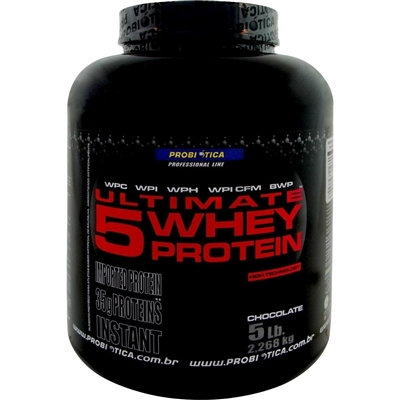 Ultimate 5 Whey Protein 2,268kg Chocolate Probiotica