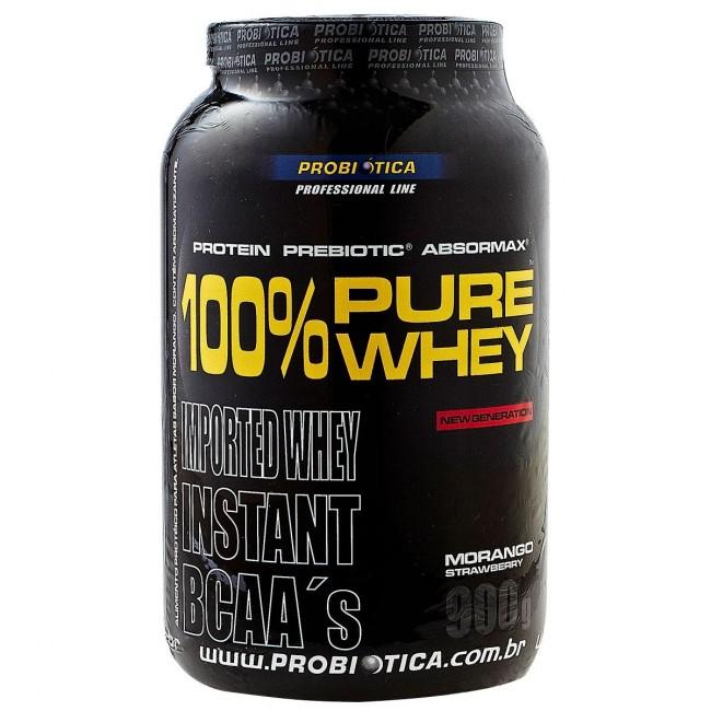 100% Pure Whey 900g Baunilha Probiotica