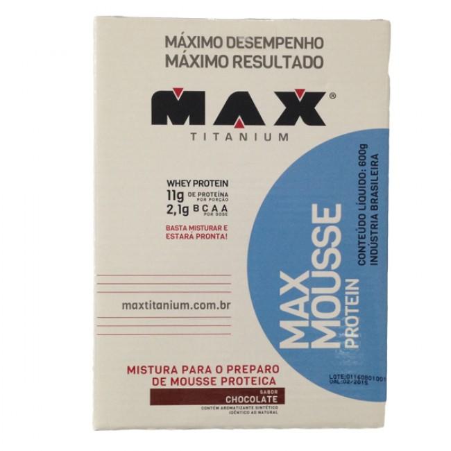Max Mousse Protein 600g Chocolate Max Titanium