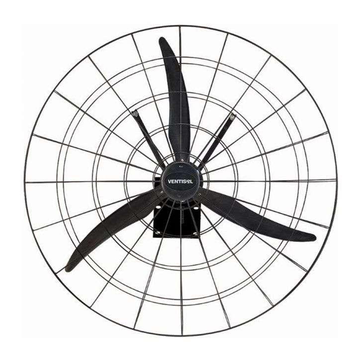 Ventilador de Parede 3 Pás Ventisol Cromado Preto 50cm - Bivolt