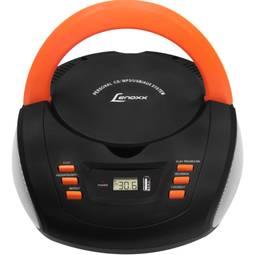 Rádio Portátil Com Cd Lenoxx Sound Laranja/preto 3,5 W Rms - Bd125
