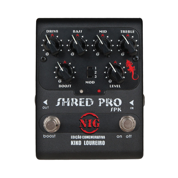 Pedal para Guitarra Shred Pro Spk Nig Music
